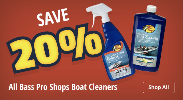 Save 20% on All Bass Pro Shops Boat Cleaners - Shop All