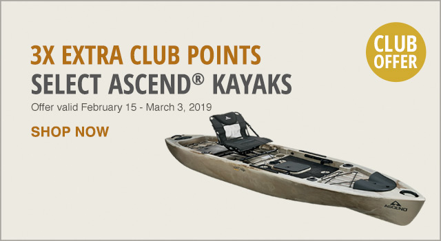 3X Extra CLUB Points on Select Ascend Kayaks