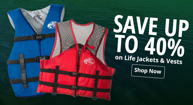 Save up to 40% on Life Jackets and Vests
