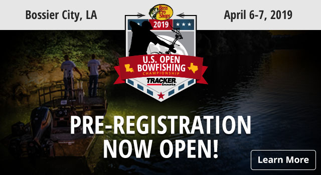 U.S. Open Bowfishing Pre-Registration Now Open! - Learn More