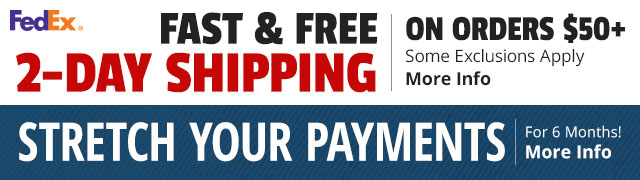 Fast & Free Shipping on Orders $50+ and Stretch Your Payments for 6 Months