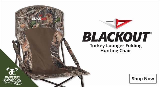BlackOut Turkey Lounger Folding Hunting Chair - Shop Now