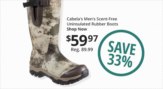 Cabela's Men's Scent-Free Uninsulated Rubber Boots