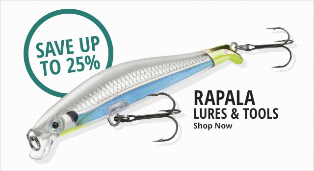 Save up to 25% on Rapala Lures and Tools