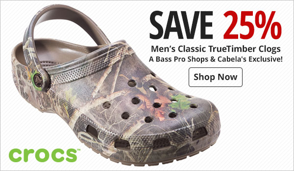 Save 25% on Men's Crocs Classic TrueTimber Clogs