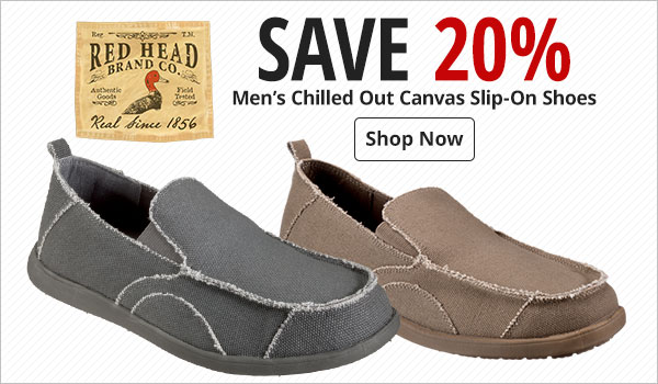 Save 20% on Men's RedHead Chilled Out Canvas Slip-On Shoes