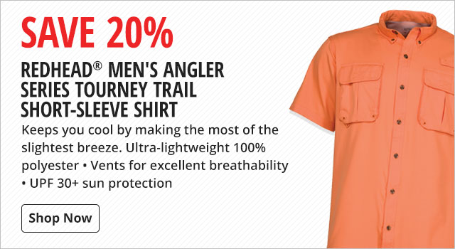 Save 20% on RedHead Men's Angler Series Tourney Trail Short-Sleeve Shirts - Shop Now