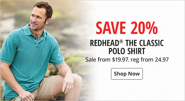 Save 20% on RedHead The Classic Polo Shirts - Shop Now