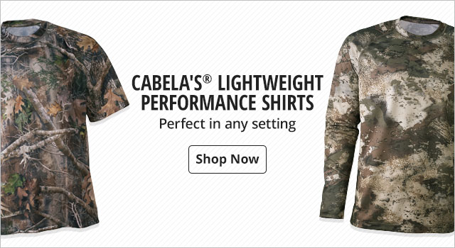 Cabela's Lightweight Performace Shirts - Shop Now