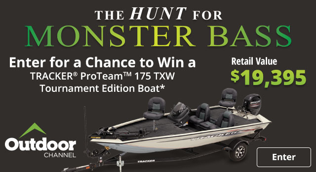 Enter for a Chance to Win a Tracker ProTeam 175 TXW Tournament Edition Boat - Enter