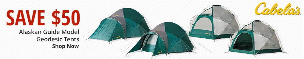 Save $50 Alaska Guide Model Geodesic Tents