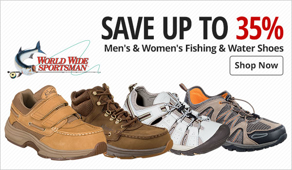 250427c721fd Save up to 35% World Wide Sportsman® Men s   Women s Fishing   Water Shoes