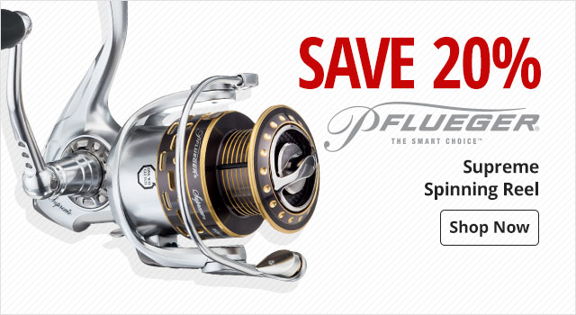 Save 20% on Pflueger Supreme Spinning Reel