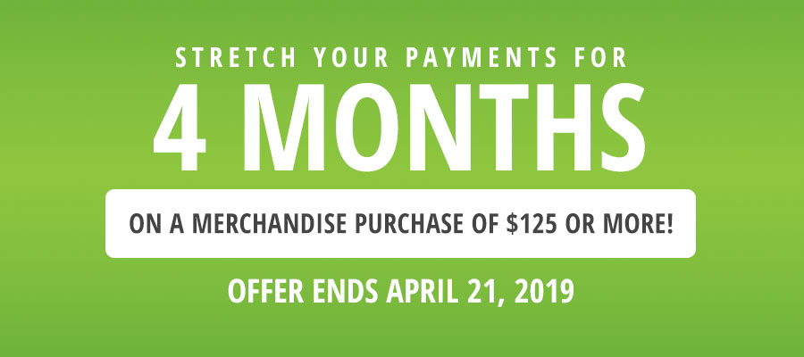 Stretch Your Payments for 4 Months