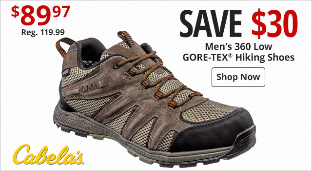 c909244aa42 Save  30 on Men s Cabela s 360 Low GORE-TEX Hiking Shoes