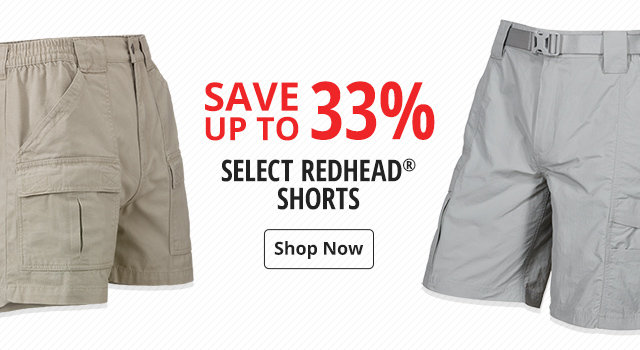 Save up to 33% on select Redhead Shorts - Shop Now