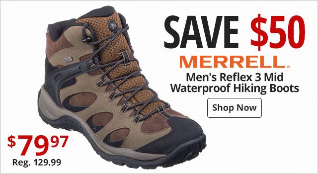 8b75f4cd4c69f Merrell Men s Reflex 3 Mid Waterproof Hiking Boots