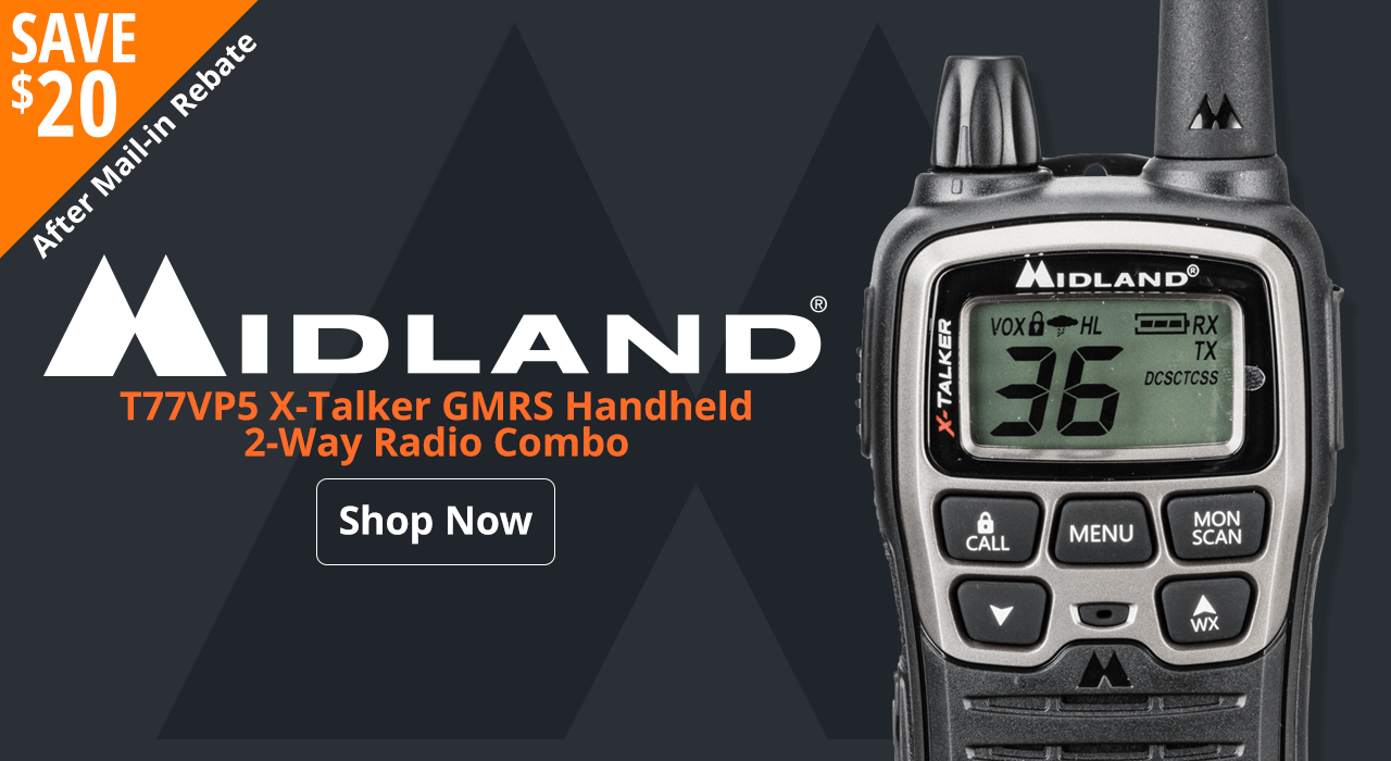 Midland T77VP5 X-Talker GMRS Handheld 2-Way Radio Combo - Shop Now