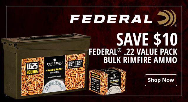 0fb9aef350 Federal .22 Value Pack Bulk Rimfire Ammo - Shop Now