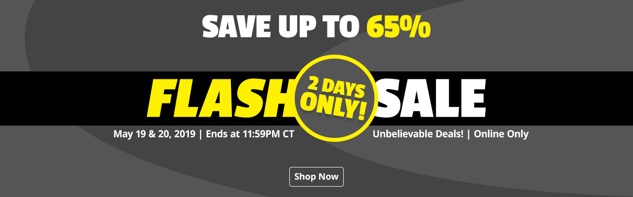 Flash Sale - Save up to 65% - Shop Now