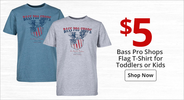 5f2a16d56 $5 Bass Pro Shops Flag T-Shirt for Toddlers