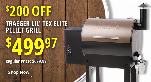 Traeger Lil' Tex Elite Pellet Grill - Save $200