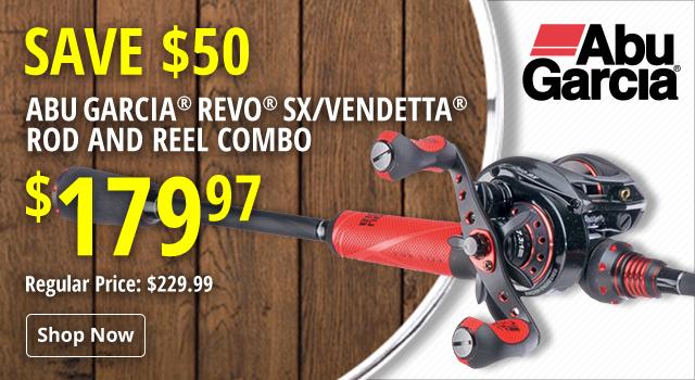 Abu Garcia Revo SX/Vendetta Casting Rod and Reel Combo - Save $50