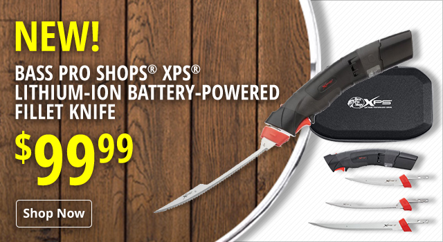 New Bass Pro Shops XPS Lithium-Ion Battery-Powered Fillet Knife - Shop Now