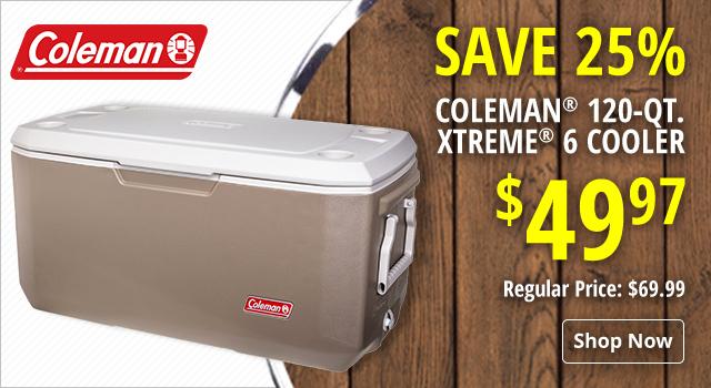 Coleman 120-Qt. Xtreme 6 Cooler - Save 25%