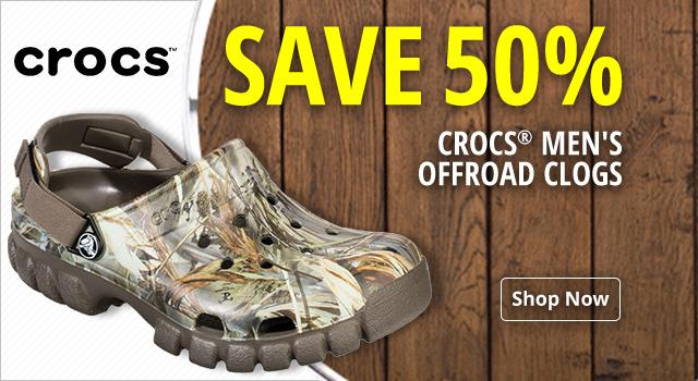 Crocs Men's Offroad Clogs - Save 50%