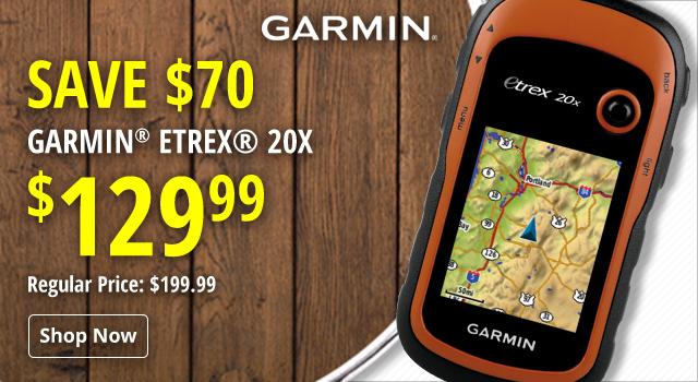 Garmin eTrex 20x - Save $70