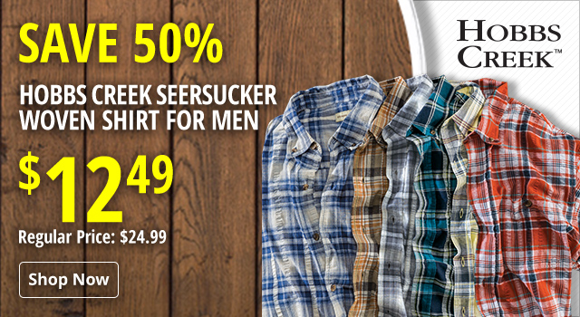 f6bc684bd Hobbs Creek Seersucker Woven Shirt for Men - Save 50%