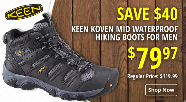 KEEN Koven Mid Waterproof Hiking Boots - Save $40