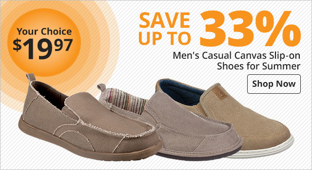 039532d072 Save up to 33% on Men's Casual Canvas Slip-on Shoes for Summer