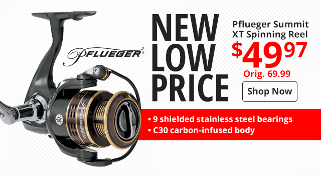 New Low Price - Pflueger Summit XT Spinning Reel