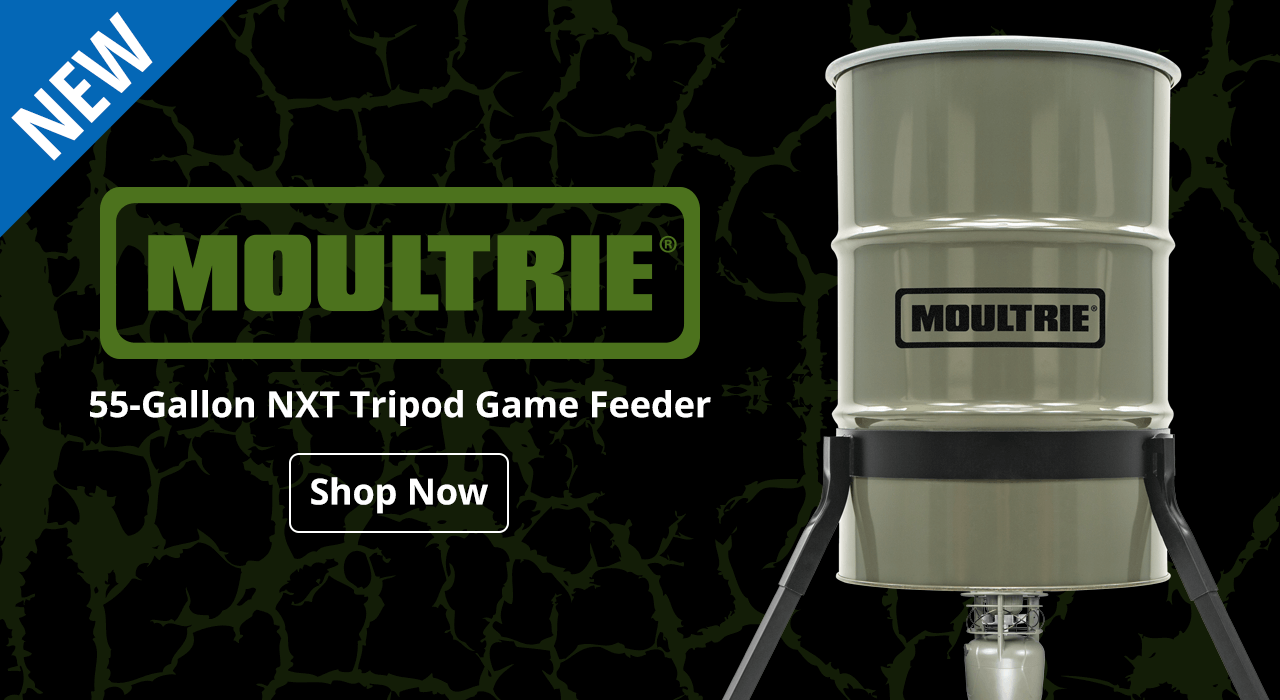 Moultrie 55-Gallon NXT Tripod Game Feeder - Shop Now