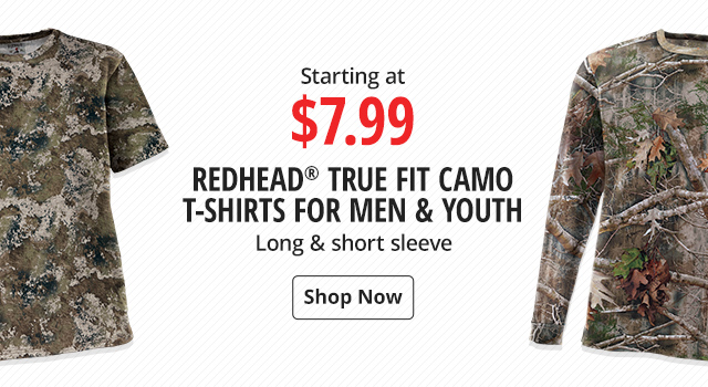 0746af76f RedHead True Fit Camo T-Shirts for Men & Youth Starting at $7.99 - Shop