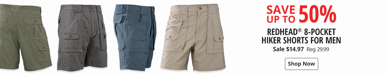 eeb07eb0a6 Save 60% on RedHead 8-Pocket Hiker Shorts for Men - Shop Now ...