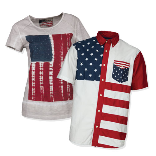 American flag themed shirts
