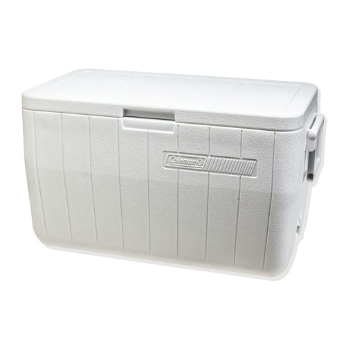 white coleman cooler