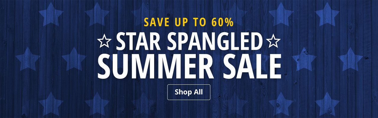 Star Spangled Summer Sale - Save up to 60%