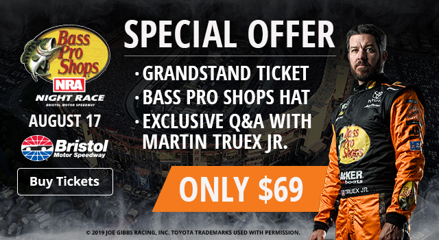 Special Offer - Grandstand Ticket, Bass Pro Shops Hat, Exclusive Q&A with Martin Truex Jr.