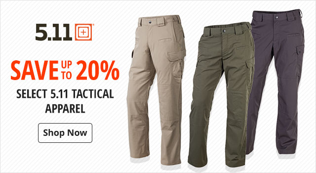 Save up to 20% on select 5.11 Tactical Apparel