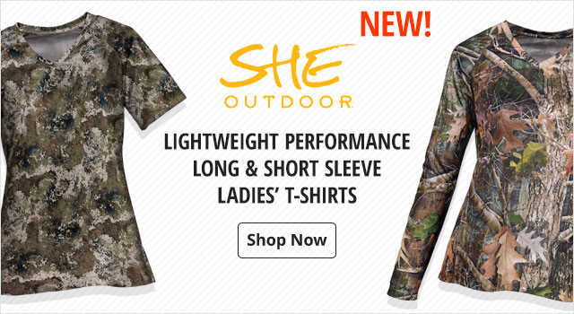 She Outdoors Lightweight Performance Ladies' T-Shirts