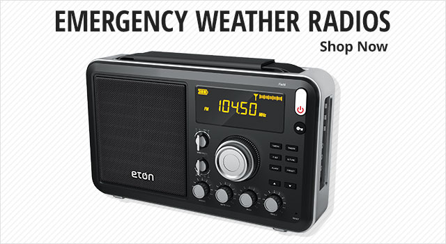 Emergency weather radios - shop now