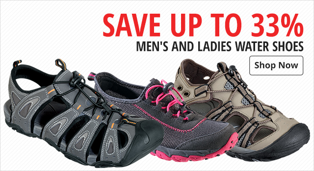 72db62cc82a Save up to 33% Men's and Ladies Water Shoes ...