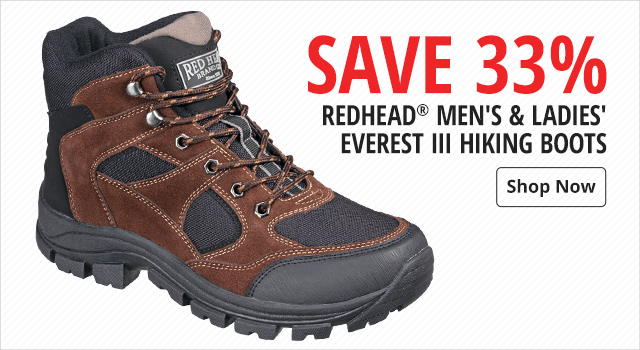 568f810c0 ... Save 33% on RedHead Everest III Hiking Boots for Men and Ladies