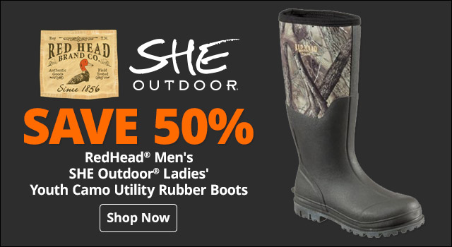 17dbfb1898b3 RedHead® Men's, SHE Outdoor® Ladies', or Youth Camo Utility Rubber Boots