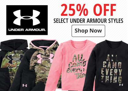 25% off Select Under Armour Styles