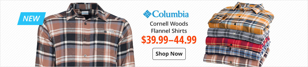 Columbia Cornell Woods Flannel Shirts $39.99-44.99 - Shop Now